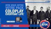 Coldplay : RFM vous offre votre pack «Everyday Life»