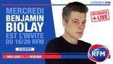 Mercredi 1er juillet : Benjamin Biolay est l'invité du 16/20 RFM