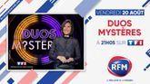 Vendredi 20 août : Regardez l'émission « Duos Mystères » à 21h05 sur TF1, en association avec RFM !
