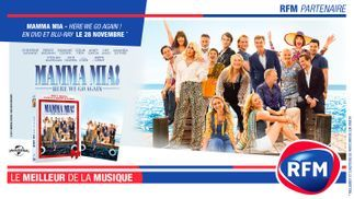 RFM partenaire du DVD/Blu-Ray de Mamma Mia «Here we go again»